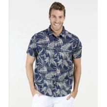 Hombre ropa tipo estampado floral camisa de vestir personalizada
