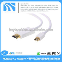 1.8m Gold Plated Mini Display port to HDMI cable