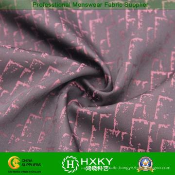 Zweifarbiges Muster Jacquard Polyester-Gewebe für modische Jacke