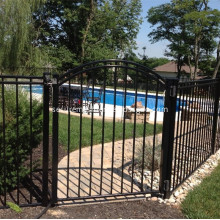 Steel Fence Gate with Bars for Pool