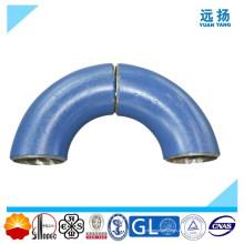 Codo de tubo de acero de alta calidad de 90 grados de aleación