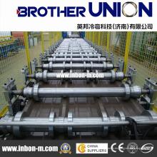 Máquina formadora de rollos de láminas de techo galvanizado de aluminio