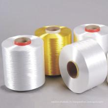 100% fil de filament de polyester torsadé à faible retrait