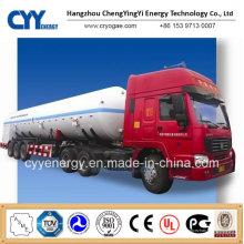 China 2015 LNG Liquid Oxygen Tank Car Semi Semi-remorque