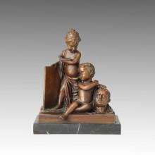 Statue de figure nu Enfants / Sculpture en bronze pour enfants TPE-117