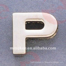 "Accesorios decorativos del bolso ""P"" de letra pequeña (O35-675A-P)"