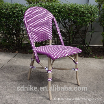 DC-(143) Modern rattan bamboo chair/ purple dining chair
