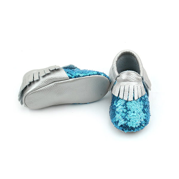 Sequins Moccasins Sliver Baby Shoes Wholesales