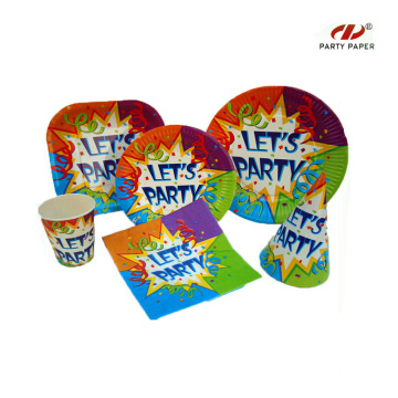 Wholesale Party Supplies Paper Tableware Set
