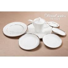 Превосходный набор столовых приборов для посуды, керамическая итальянская круглая пластина