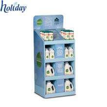 Platten-Körper-Wäsche-Shampoo-Boden-Ausstellungsstand, bequeme Speicher-Kleinpappboden-Shampoo-Anzeige