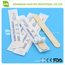 Sterile wooden tougue depressor