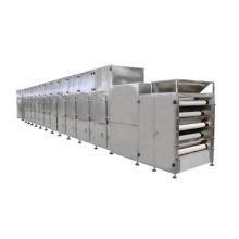 Conveyor microwave drying machine with sterilization for Mushrooms Tea leaves Fungus Bracken onion