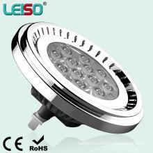 Aluminum12.5W 12V AR111 G53 LED abajo de la luz (LS-S012-G53)