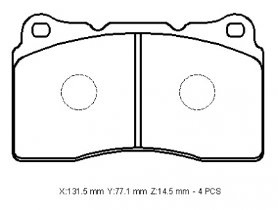 VAUXHALL INSIGNIA brake pads 7919-D1016