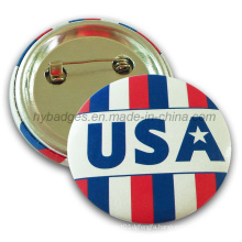 Custom Flag Tin Badge, National Flag Lapel Pin (HY-MKT-032)