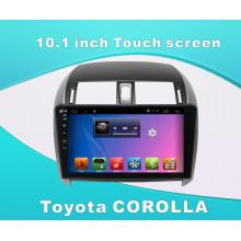 Автомобильный DVD-плеер с системой Android для Toyota Corolla 10,1-дюймовый сенсорный экран с GPS / Bluetooth / TV