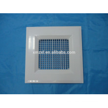 ABS rectangular double deflection grille supply air