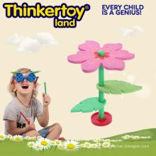 Brinquedo de construção de flores para aprendizado e desenvolvimento