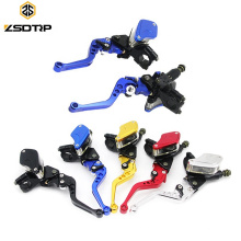 """CNC Aluminum 7/8"""" 22mm Hydraulic Motocross Adjustable Brake Levers Motorcycle Clutch Brake Lever for 50-300CC Moto"""