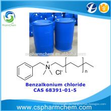 Cloruro de benzalconio, CAS 68391-01-5, cloruro de alquil dimetil bencil amonio para el tratamiento del agua