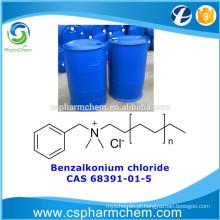 Cloreto de benzalcónio, CAS 68391-01-5, cloreto de alquil dimetil benzil amónio para tratamento de água