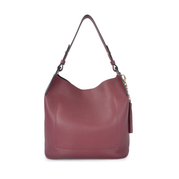 Borse in pelle minimaliste rosse morbide Hobo Slouch Medium