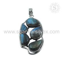 Labradorite gemstone designer silver pendant jewelry 925 sterling silver handmade jewellery wholesaler