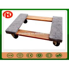 dekorativer hölzerner beweglicher Transportwagen / Laufkatze, beweglicher Werkzeugwagen für elektrische Ausrüstung, Möbel