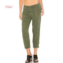 Calças de Demin de alta qualidade verde do exército