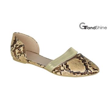 Женские плоские повседневные туфли с острым носом