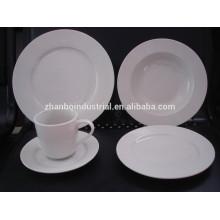 Porcelana de hotel, juego de cena de lujo de la porcelana, cena fina de la porcelana
