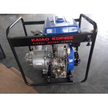 4 Inch Single Stage Centrífuga Key Start bomba de água diesel portátil para irrigação agrícola Uso
