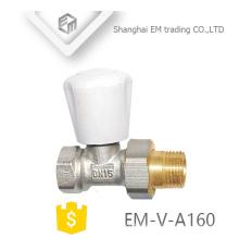 """EM-V-A160 proveedor de porcelana latón 1/2 """"válvula de ángulo del regulador de temperatura del radiador DN15"""