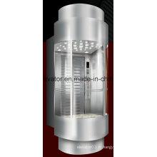 Ascenseur panoramique design unique avec mur arrière en verre