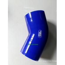 Blue 45 degrés 76mm 3 '' Cou Cœur Silicone Radiateur Turbine