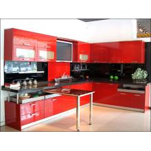 Глянцевые индивидуальные деревянные акриловые кухонные шкафы для гостиничной мебели (акрил для дверей шкафа)