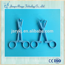High quality disposable medical plastic sponge forceps