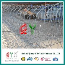 Barreira de segurança móvel Barreira de arame e reboque