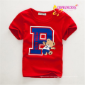 newest summer round collar boys shirt cotton children t shirt kids