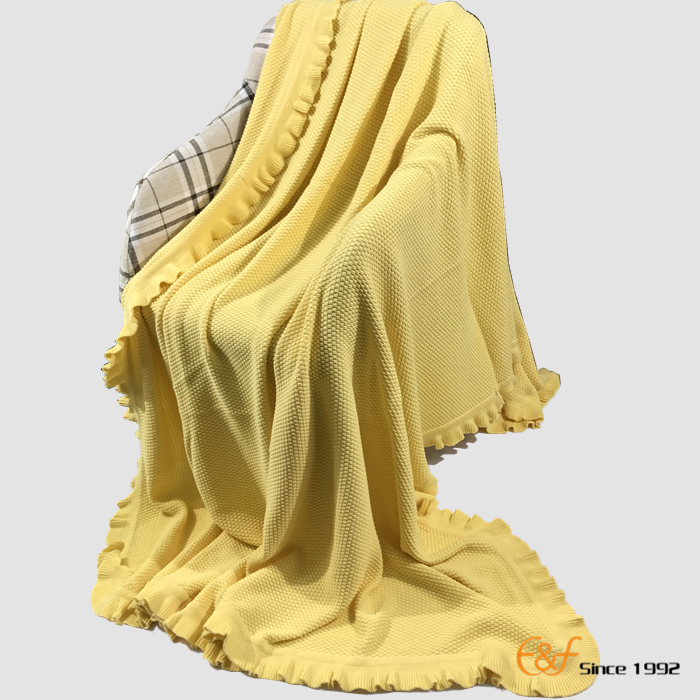 High Quality New Design Beautiful Colour Cotton Folding Blanket