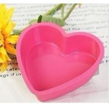 Molde do bolo da forma do coração do gel do silicone (SE-298)