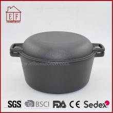 Batterie de cuisine en fonte à double usage / four hollandais / marmite