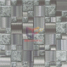 Gold Leaf Crystal Mix Grind Face Metal Mosaic (CFM902)