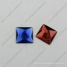 Pedras da jóia do vidro da parte traseira lisa com chapeamento de prata real (dz-1072)