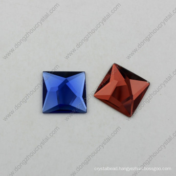Flat Back Glass Jewelry Stones with Real Silver Plating (DZ-1072)