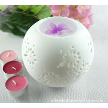 Round Ceramic Candle Burner, Tart Oil Warmer Pure White Aroma Diffuser Ts-cb031