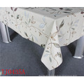 New Design PVC Printed Pattern Tablecloth with Fabric Backing LFGB