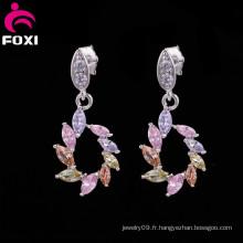 Nouveau produit sur le marché chinois cuivre boucle d'oreille bijoux africains