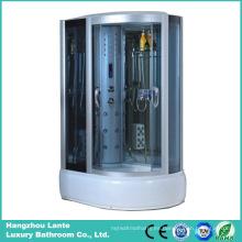 Barato precio cabina de ducha de vapor de vidrio templado